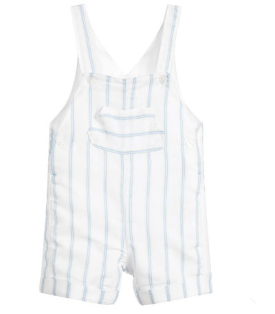 Absorba Boys White Viscose Dungaree Shorts  SKU  9Q21042-41  S/S20