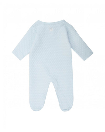 Absorba Baby Pale Blue Waffle Effect Babygrow