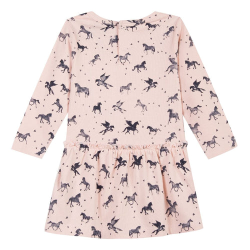 3pommes Girls Pink Unicorn Dress