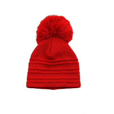 65ebdafdfc2 Satila Edsbyn Red Huge Pom Hat ...