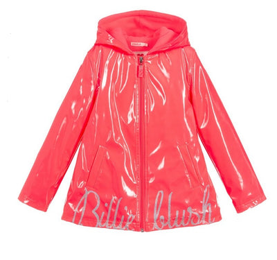 Billieblush Fuschia logo Raincoat  SKU  U16235-499