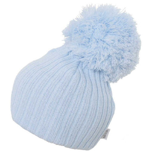 Satila Park Blue Huge Pom Hat