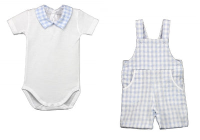 RAPIFE Boys Blue  T-Shirt & Dungaree Set   SKU    R4520-4522-16  S/S20