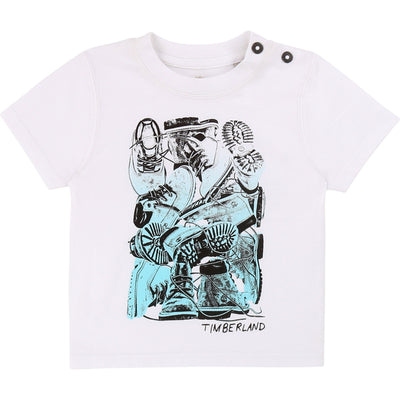 Timberland Boys White Shoe T-Shirt