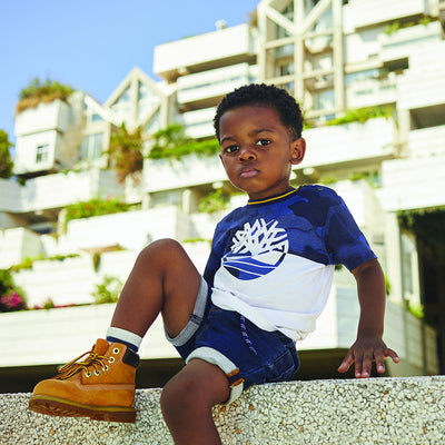 Timberland Boys Unique Manches  T-Shirt    SKU    T05J23-Z40    S/S20
