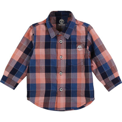 Timberland Boys Checked shirt    SKU    T05J31-374    S/S20