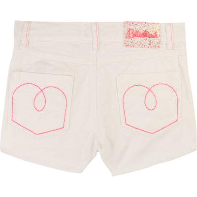 Billieblush Girls Rice Cotton Bow Shorts SKU U14309-121