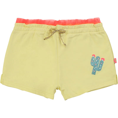 Billieblush Girls Cotton Yellow Shorts
