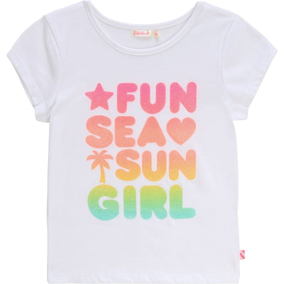 Billieblush Girls White T-Shirt   SKU  U15723-10   S/S20