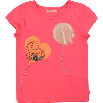 Billieblush Girls Rose Fluo T-Shirt
