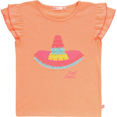 Billieblush Girls Orange Sombrero T-Shirt   SKU    U15730-408    S/S20
