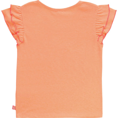Billieblush Girls Orange Sombrero T-Shirt
