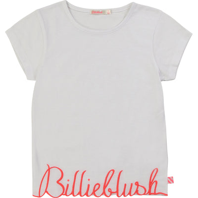 Billieblush Girls White Logo T-Shirt   SKU    U15733-10   S/S20