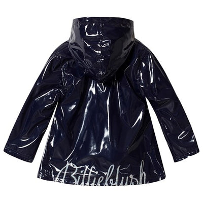Billieblush Navy logo Raincoat  SKU  U16235-85T
