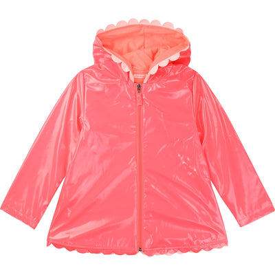 Billieblush Girls Bright Pink Rain Coat