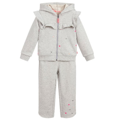 Billieblush Girls Grey Heart Tracksuit