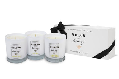 Luxury Willow and Honey Floral Soy Candle Gift Box