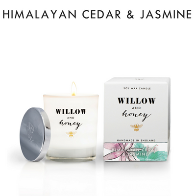Willow and Honey Luxury Himalayan Cedar & Jasmine Soy Candle 60g