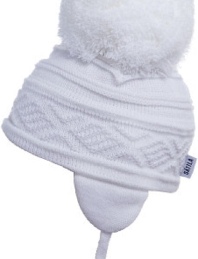 Satila ZELMA Huge Pom Hat White   C31812