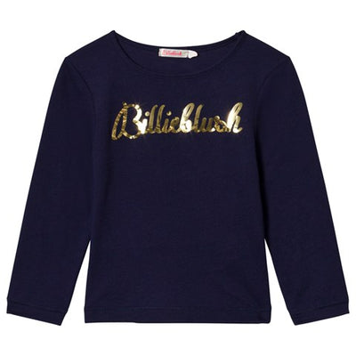 Billieblush Navy Logo T-Shirt