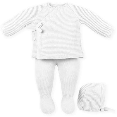Mac ilusion Baby 3pc White Unisex Set
