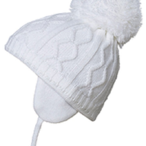 Satila Charlie White Pom Hat
