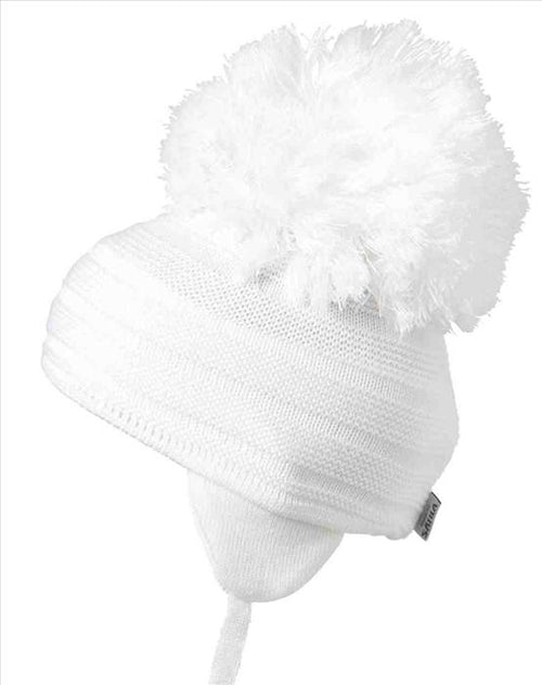 Satila Purl Huge Pom Hat White  C71813