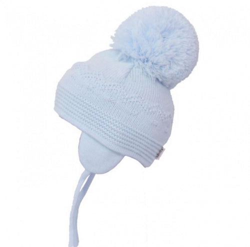 Satila Bella Huge Pom Hat Blue