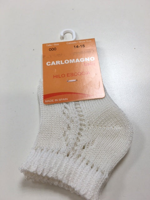 Carlomagno Natural Patterned Ankle Sock