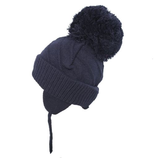 Satila Jim Huge Pom Hat Navy  C04801
