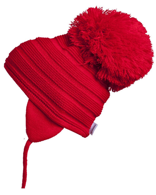 Satila Purl Huge Pom Hat Red