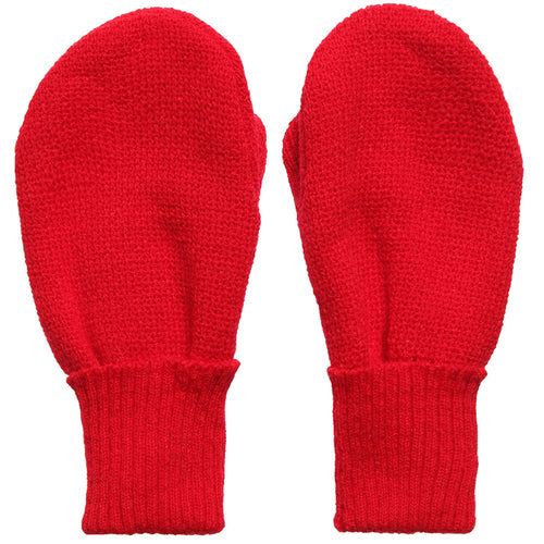 Satila 'Twiddle' unisex baby mittens in red with thumb