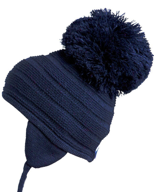 Satila Purl Huge Pom Hat Navy