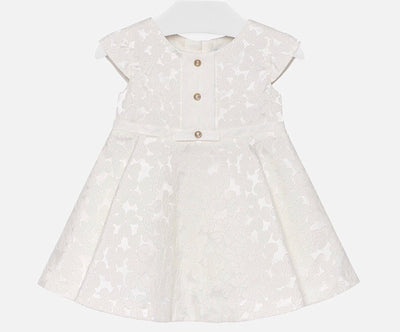 Mayoral Baby Girls Natural Jacquard Dress - SKU - 1904-15