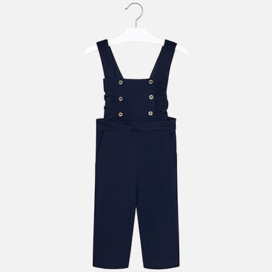 Mayoral Girls Navy Knit Playsuit /Natural Turtleneck Set  SKU 4602-313