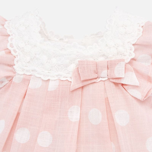 Mayoral Baby Girls Pink Polka Dot Dress with Knickers