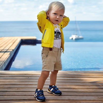 Mayoral Baby Boys Jute Sting bermuda shorts with braces  SKU 1283-22 - S/S20