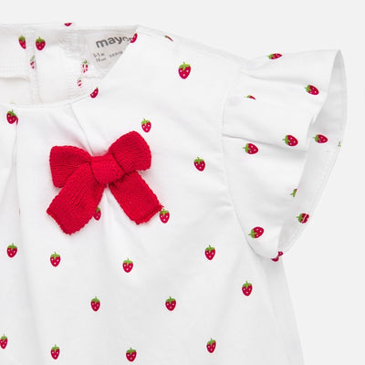 Mayoral Baby Girls Red Tricot Smock Set   SKU 1137-77 - S/S20
