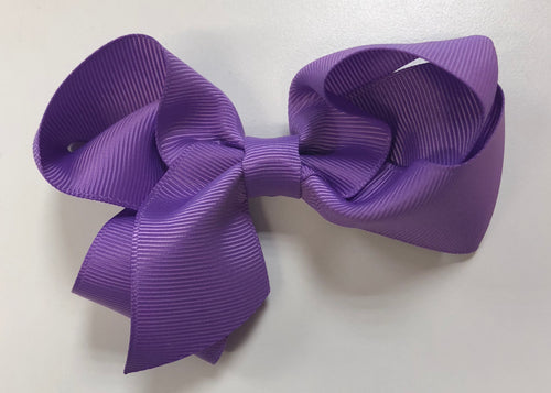 4.5 inch purple bow