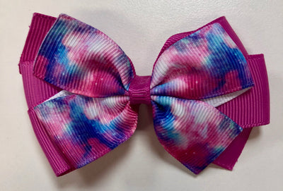 2.5 inch multi coloured bow