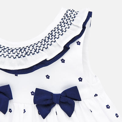 Mayoral Baby Girls Blush Nautical Dress with smock