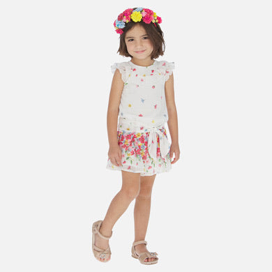 Mayoral Girls Flower Playsuit