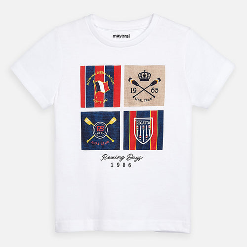 Mayoral Boys Short sleeved t-shirt with rowing prints  SKU  3061-39 - S/S2O