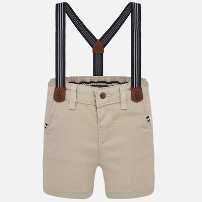 Mayoral Baby Boys Jute Sting bermuda shorts with braces