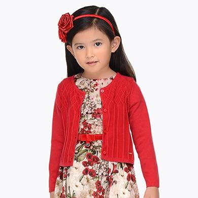 Mayoral Girls Red Cardigan - SKU - 4326-40