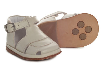 Fofito Jack Baby Boys Cream Leather Sandal
