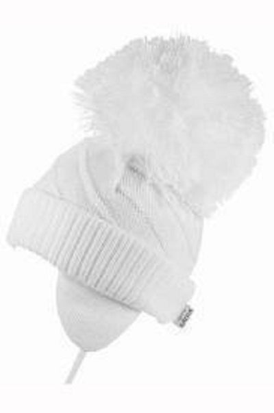 Satila Jim Huge Pom Hat White  C04801