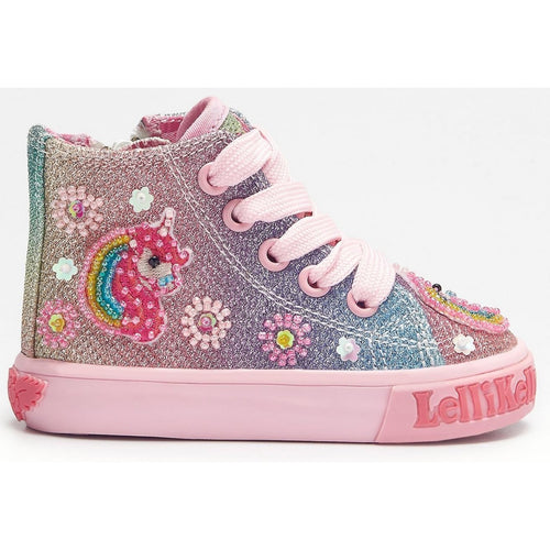 Lelli Kelly Multi Glitter Unicorn Sparkle Baby Boots HI-Top  SKU  LK1006  S/S20
