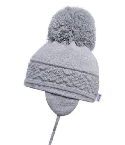 97e9604065c Satila Malva Huge Pom Hat Light Grey