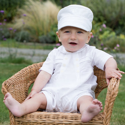 Emile et Rose Pierre Traditional Baby Boys Romper  SKU 7279WH  S/S20